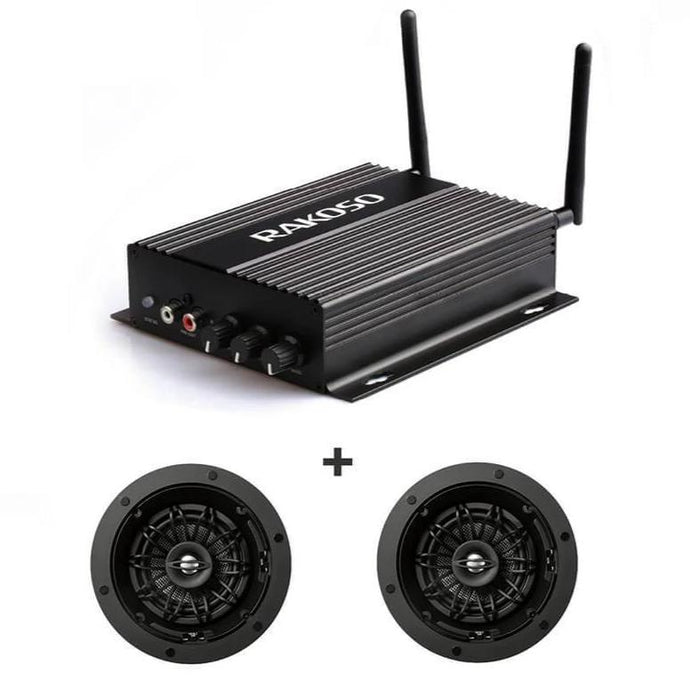 Wireless & Bluetooth Amplifier SA100 with a pair of RK525 in-ceilspeaker with aimable woofer and tweeter - arylic