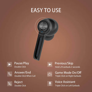 True Wireless Bluetooth 5.0 Low Latency Game Earbuds With Large Battery Capacity M500