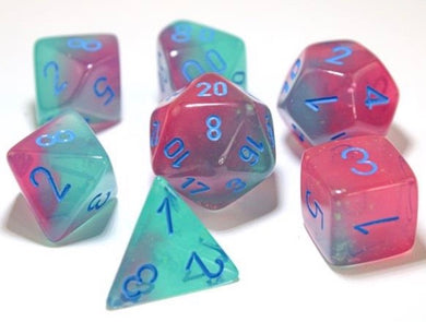Chessex Gemini Gel Green - Pink/blue - Pre order
