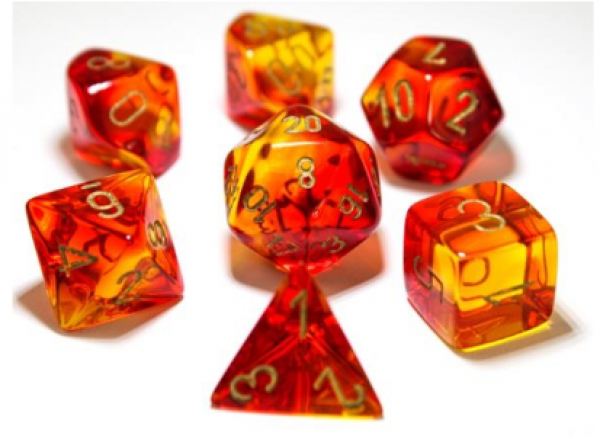 Chessex Gemini Red - Yellow/gold
