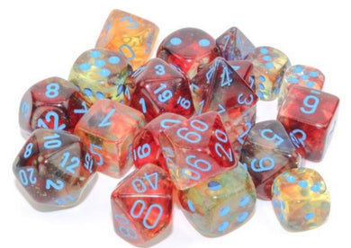 Chessex Nebula Primary/blue Luminary 7 piece set - pre order
