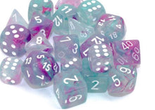 Chessex Nebula Wisteria/White Luminary 7 piece set - pre order