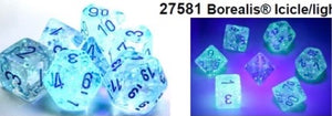 Chessex Borealis Icicle/light blue Luminary set - pre order