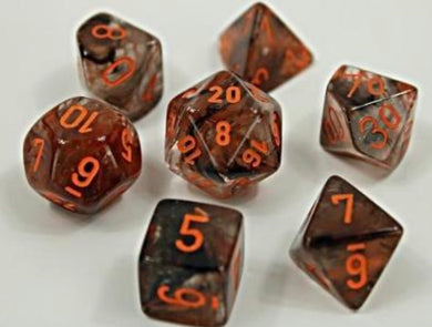Chessex Nebula Copper Matrix (8 piece polyhedral set) - Pre order