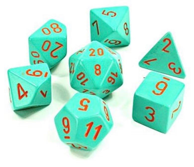 Chessex Heavy Dice Turquoise/Orange (8 piece polyhedral set)