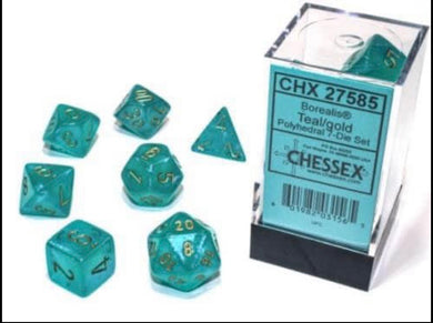 Chessex Borealis Teal/gold Luminary set - pre order