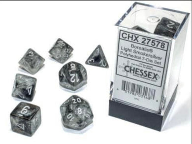 Chessex Borealis Light Smoke/silver Luminary set - pre order