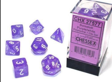 Chessex Borealis Purple/white Luminary set