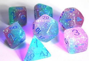 Chessex Gemini Gel Green - Pink/blue