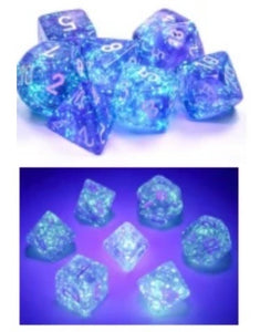 Chessex Borealis Purple/white Luminary set - pre order