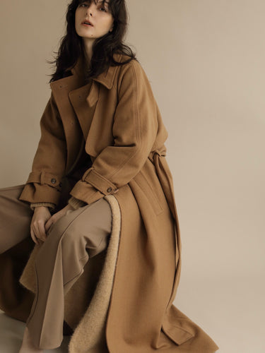 【再入荷】oversize wool trench coat