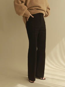stretch semiflare pants