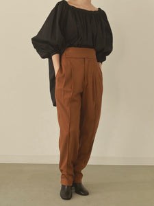 【再入荷】waist belt tapered pants
