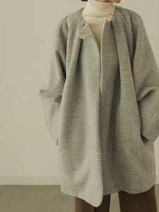 volume tack cocoon coat