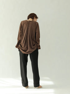 glitter backdrape cardigan