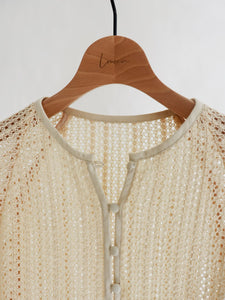 front button lace cardigan