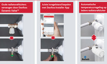 Afbeelding in Gallery-weergave laden, Danfoss Eco Bluetooth Radiator thermostaatknop