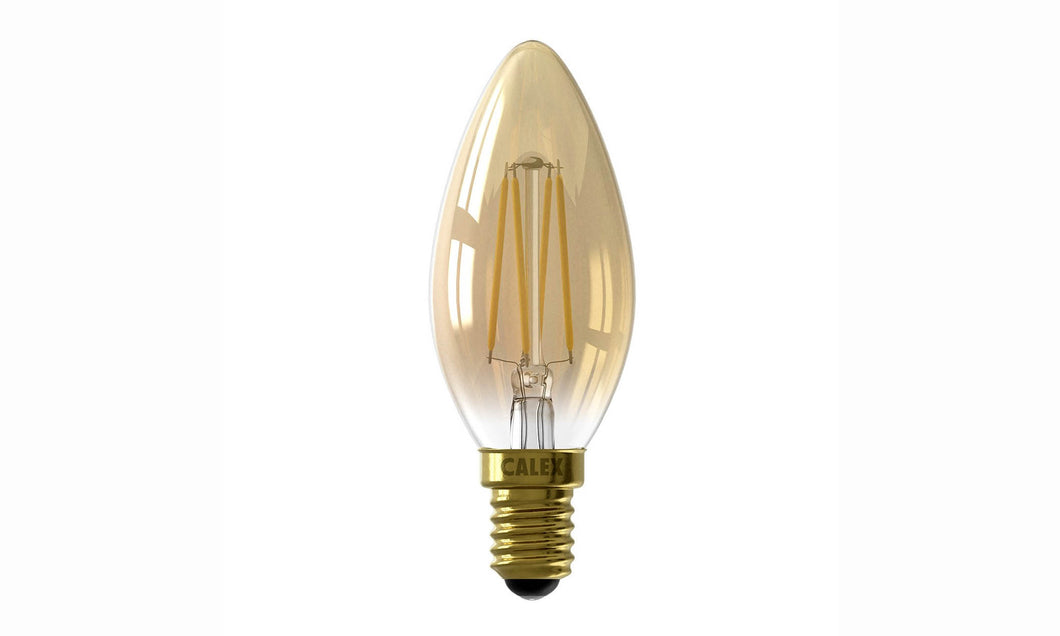 Goud serie: LED Filament Kaarslamp 3,5W kleine fitting