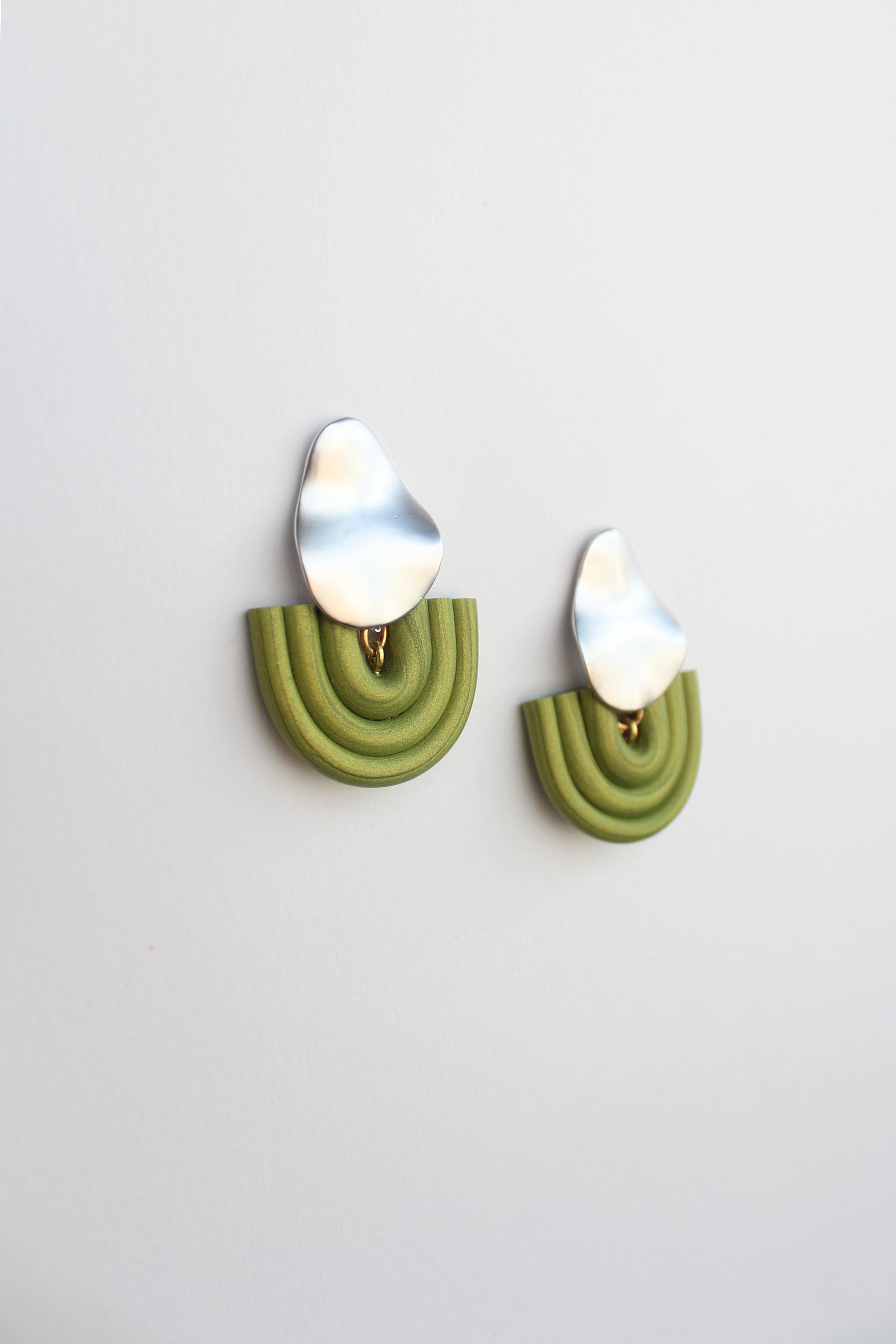 Olly Earrings in Lime Green