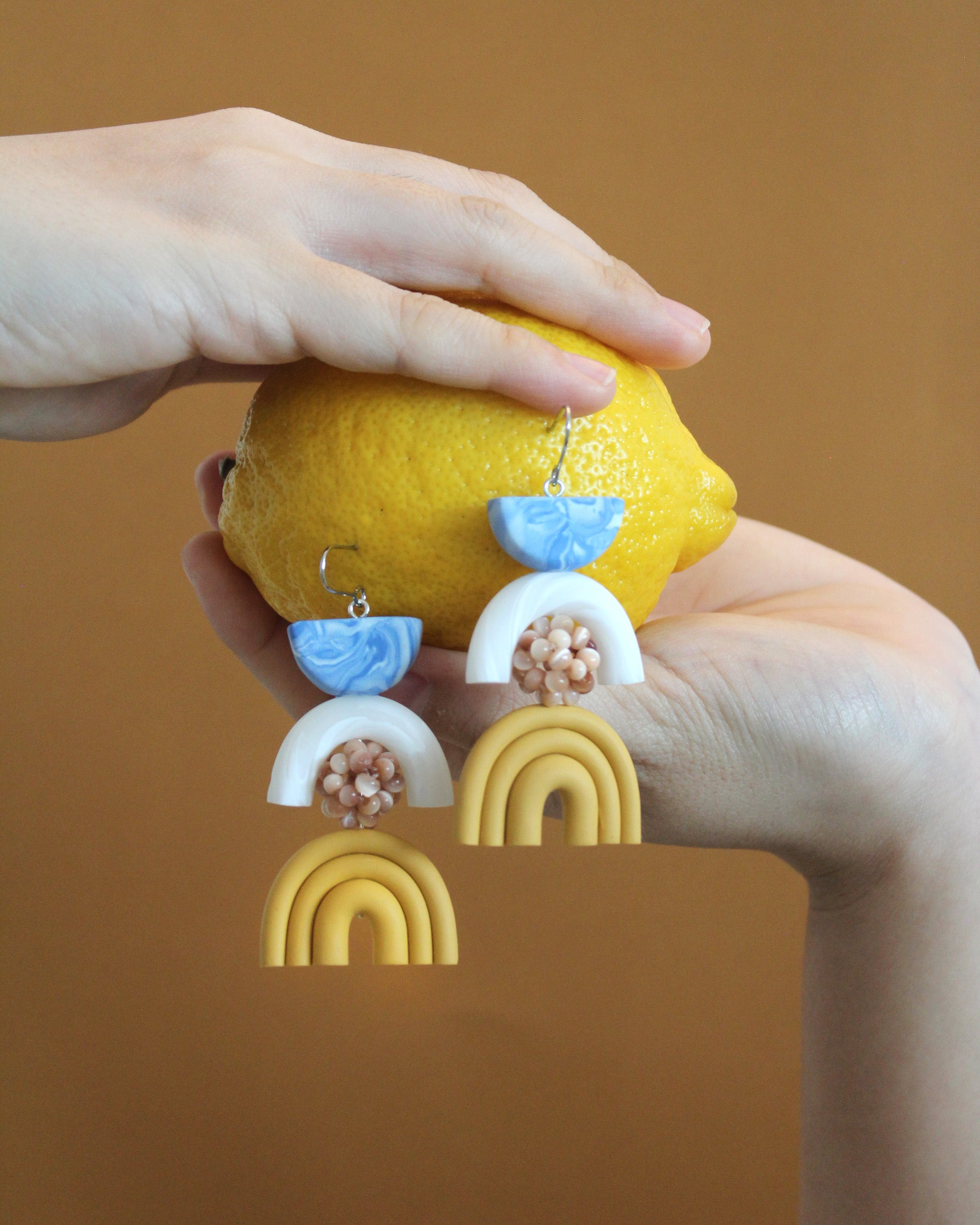 Macha Earrings in Lemon