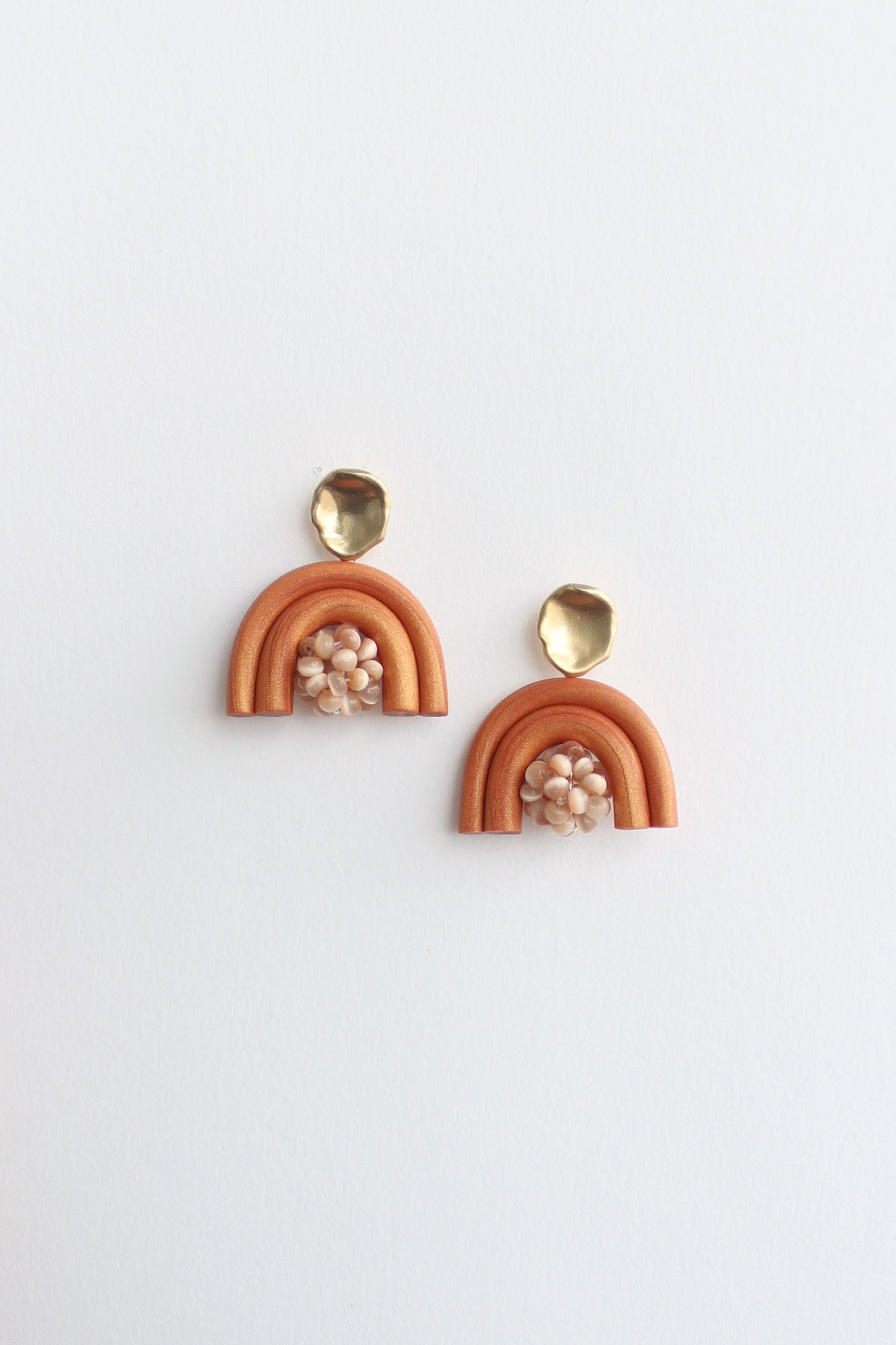 Moby Earrings in Burnt Orange