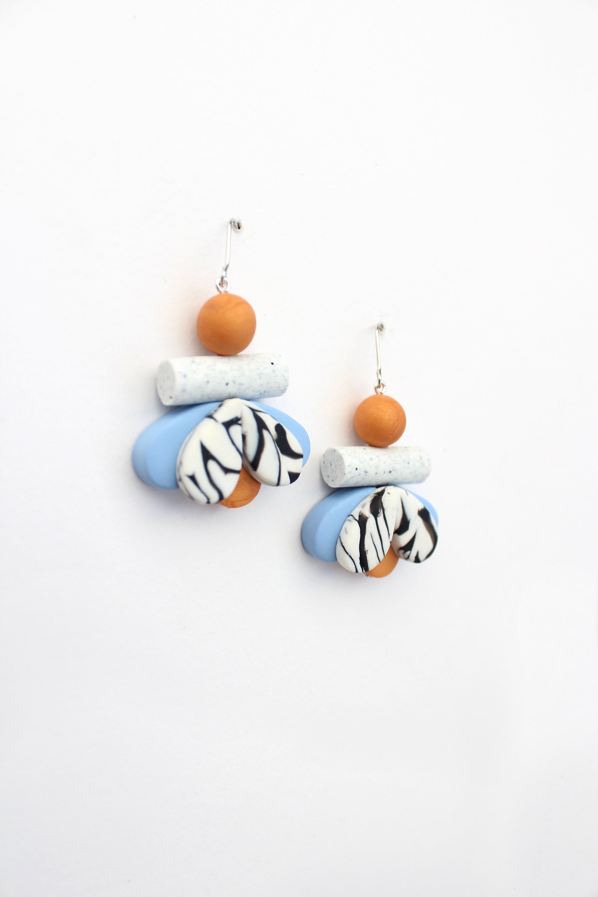 Moth Earrings in Blue