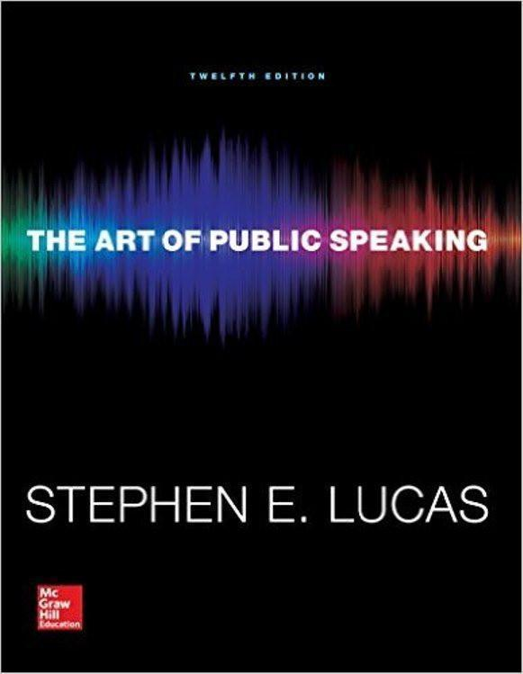 The Art of Public Speaking 12th Edition by Stephen E. Lucas PDF (ebook)