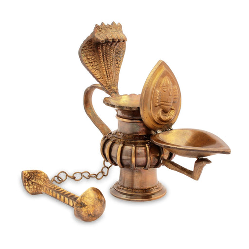Linga Bhairavi Lamp with Spoon