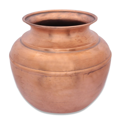 Copper Water Storage Pot (Jeevarasam Pot), 5 Liters