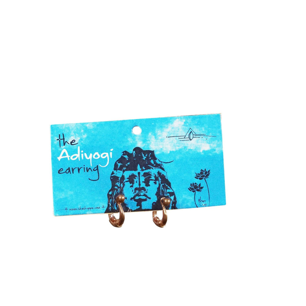 Adiyogi Copper Earring