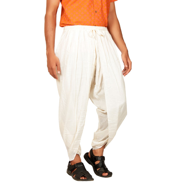 Unisex Off-white Dhoti Pant - Organic Cotton