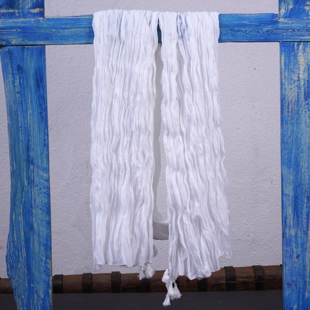 Cotton White Shawl