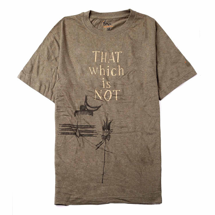 Melange Unisex Cotton That Which is Not Printed T-shirt - Olive
