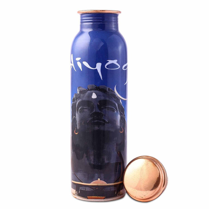Adiyogi Copper Water Bottle, 950 ml