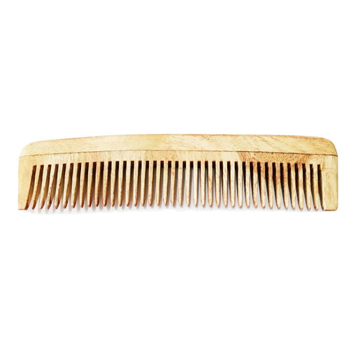 Handmade Neem Wood Comb (Narrow Teeth)