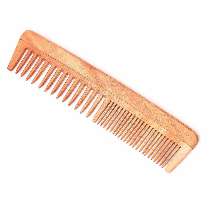 Handmade Neem Wood Comb (Two in one)