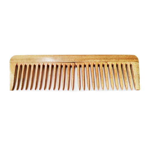 Handmade Neem Wood Comb (Wider teeth)