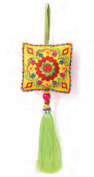 Embroidered Hangings With Tassels