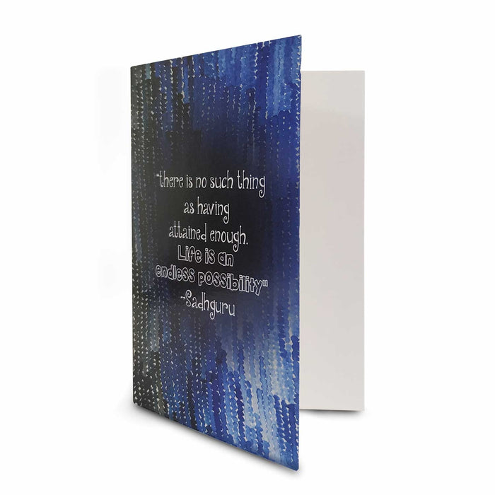 Greeting Card with Sadhguru Quote