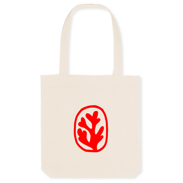 TOTE BAG FRAGMENT ROUGE