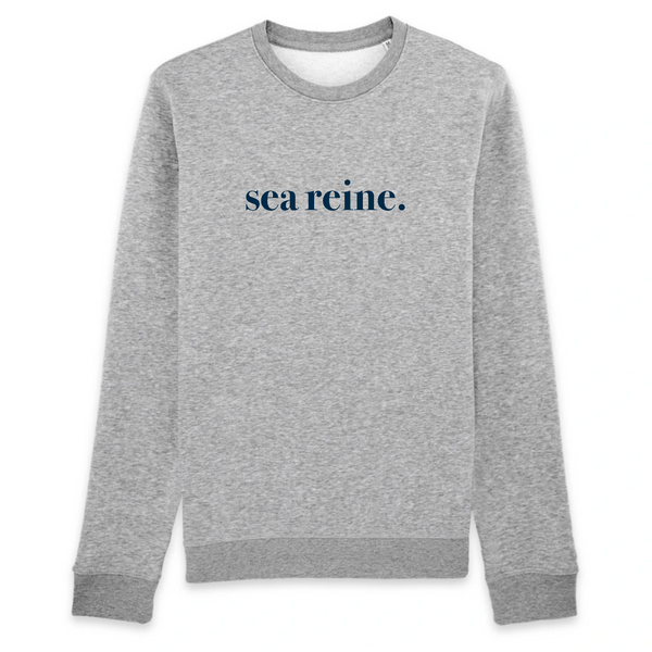 sweat col rond gris sirène sea reine
