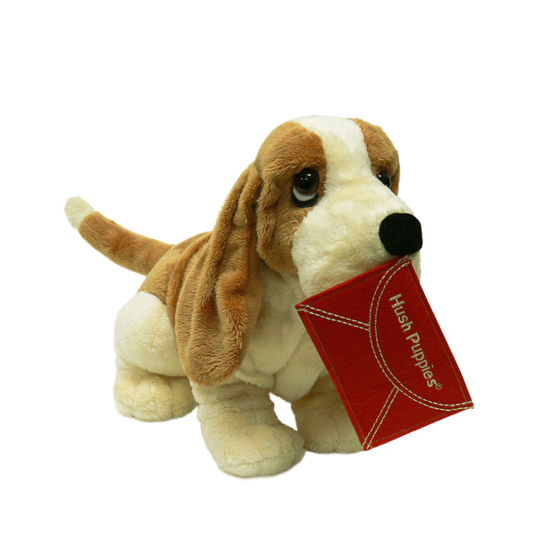 PELUCHE RED POSTCARD HUSH PUPPIES BASSET