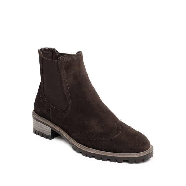 AMIE CHELSEA BROWN SUEDE