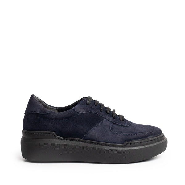 ALEXIA LACE UP NAVY SUEDE