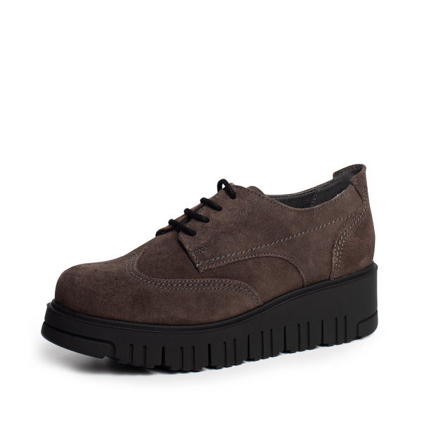ARLETE LACEUP BROWN SUEDE