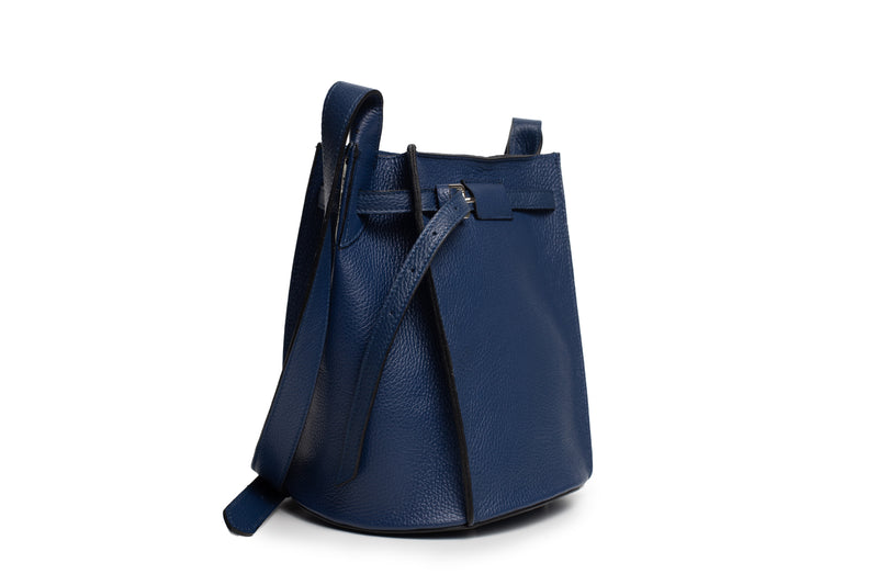 MALA ''SHOULDER BAG'' PELE GRAVADA AZUL