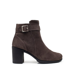 AGATHA BUCLKE BROWN SUEDE