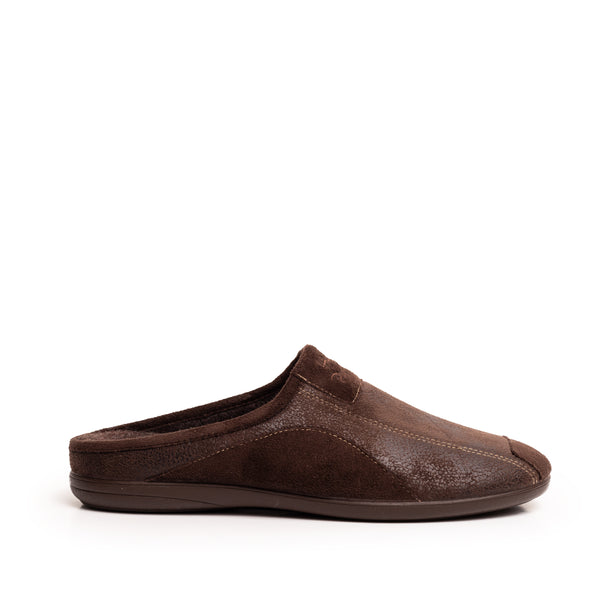 ADRIEL PATCH SLIPPERS BROWN