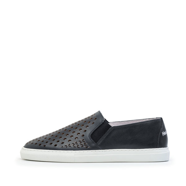 Slip-on  Navy Perfurado