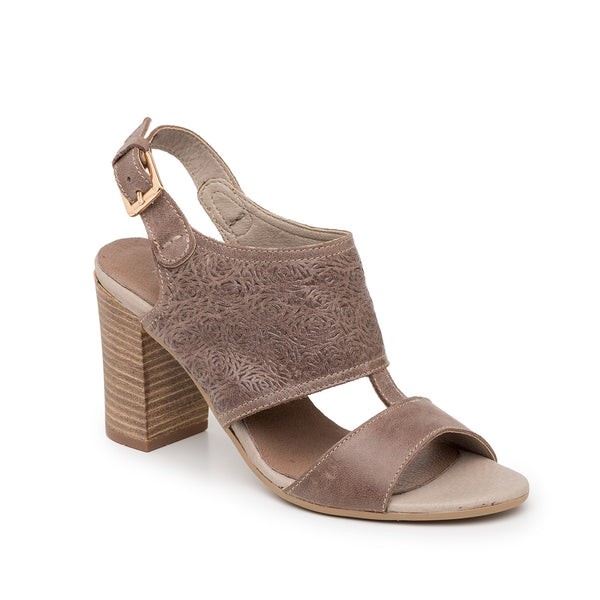 Sandália Taupe Dress Slingback